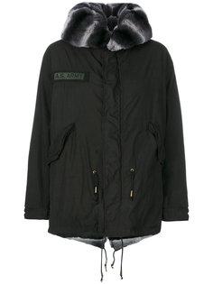 куртка с капюшоном с отделкой из меха пони As65