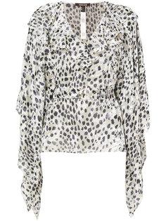 жаккардовая блузка с леопардовым принтом Roberto Cavalli