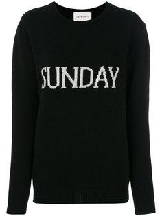 свитер с вышивкой Sunday Alberta Ferretti