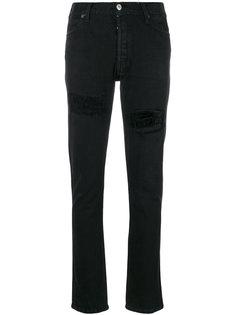 узкие джинсы с эффектом поношенности Re/Done