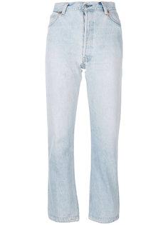 укороченные прямые джинсы Re/Done