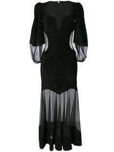 платье с прозрачными панелями Alexander McQueen