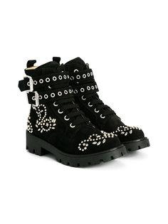 ботинки с отделкой заклепками  Ermanno Scervino Junior