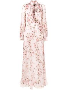платье с бантом и цветочным принтом Giambattista Valli