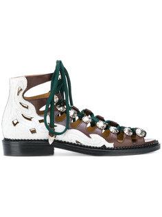 сандалии с кристаллами Toga Pulla