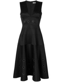 расклешенное платье с люверсами  Versace Collection