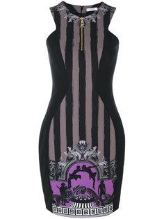 приталенное платье со вставкой по центру  Versace Collection