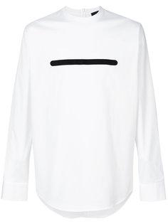 рубашка без воротника с принтом-полосой Dsquared2