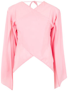 wrap style silk blouse Reinaldo Lourenço