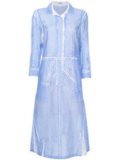 платье-рубашка с жатым эффектом Jil Sander