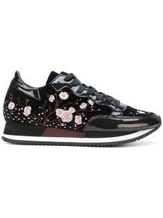 кроссовки с вышитыми цветами Philippe Model