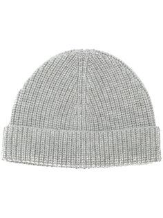 шапка-бини с ребристой фактурой Lanvin