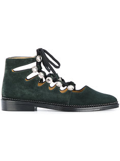 туфли со шнуровкой и декором Toga Pulla
