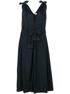платье с завязками на плечах и талии Maison Rabih Kayrouz