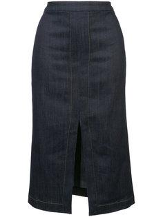 юбка-карандаш с разрезом Derek Lam