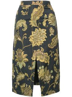 юбка-карандаш с разрезом спереди Derek Lam