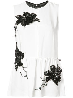 Sleeveless Top with Lily Embroidery Derek Lam