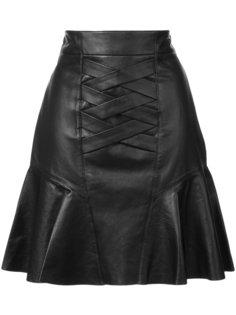 Lace-Up Peplum Skirt Derek Lam 10 Crosby