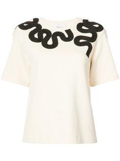 футболка с вышивкой Derek Lam 10 Crosby