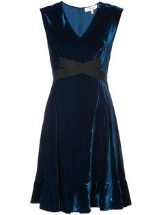 Short Sleeve Fit-and-Flare Dress Derek Lam 10 Crosby