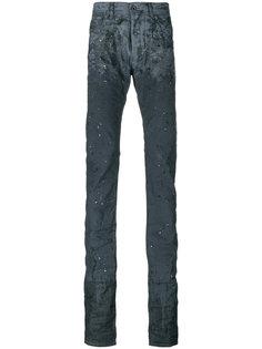 удлиненные джинсы с эффектом потертости Diesel Black Gold