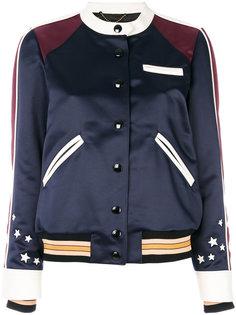 сатиновая куртка-бомбер с вышивкой Coach