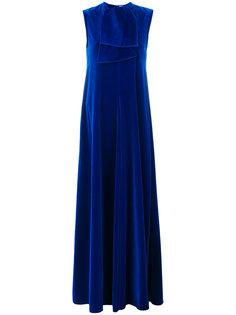 бархатное платье без рукавов Maison Rabih Kayrouz