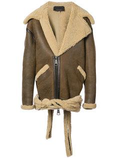 объемная куртка-бомбер из овчины Neith Nyer