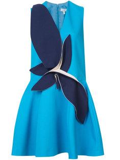 расклешенное платье с контрастным дизайном Delpozo