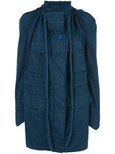 пальто с драпировками Mm6 Maison Margiela