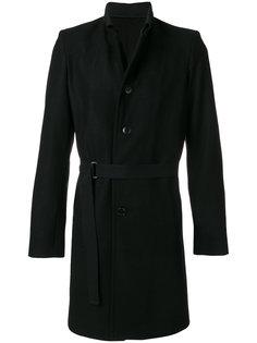 пальто с ремнем Ann Demeulemeester Grise