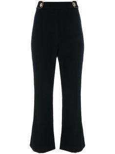 расклешенные брюки с ремешками на талии Roberto Cavalli