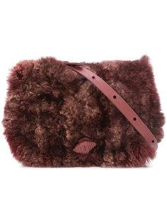сумка через плечо с кроличьим мехом Henry Beguelin
