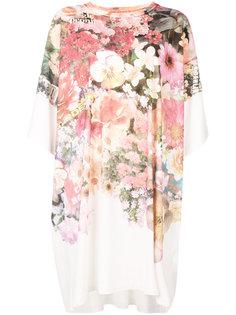 платье-футболка с цветочным принтом  Mm6 Maison Margiela