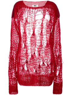 свитер с рыхлой вязкой Mm6 Maison Margiela
