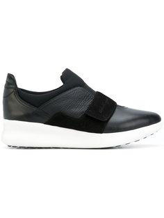кроссовки с контрастной панелью Salvatore Ferragamo