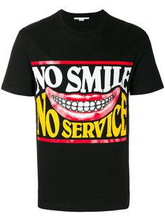 футболка с принтом No Smile No Service Stella McCartney