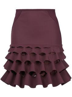 юбка с оборками Dion Lee
