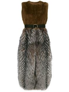 эклектичное пальто без рукавов Blancha
