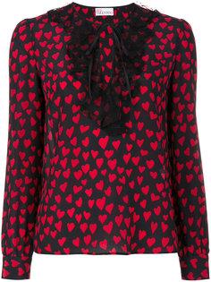 блузка с рисунком из сердец Red Valentino