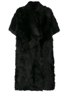 пальто из меха на пуговицах Blancha