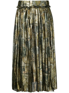 плиссированная юбка металлик  Maison Margiela