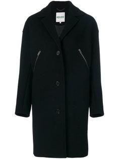 однобортное пальто свободного кроя Kenzo