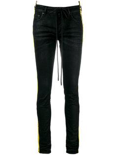 узкие джинсы с лампасами Off-White