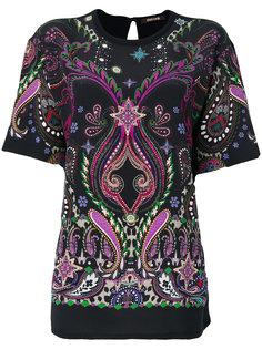 блузка с аппликацией  Roberto Cavalli