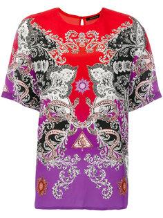блузка колор блок с принтом  Roberto Cavalli
