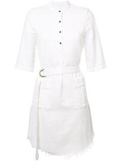 платье-рубашка с бахромой Raquel Allegra