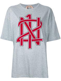 футболка свободного кроя с принтом Nº21