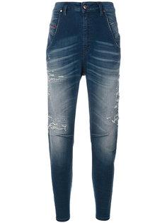 рваные зауженные джинсы Diesel