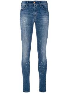 рваные облегающие джинсы Diesel